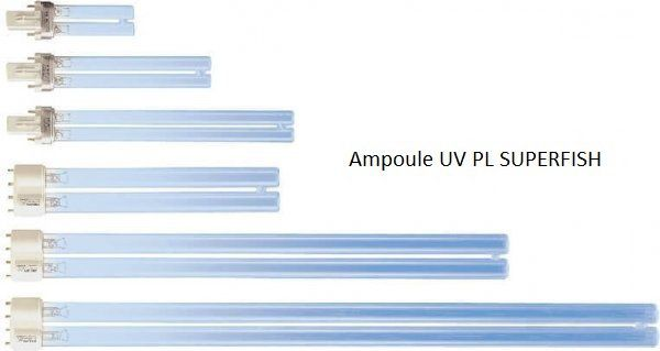 Ampoule UV de remplacement type PL (SUPERFISH)